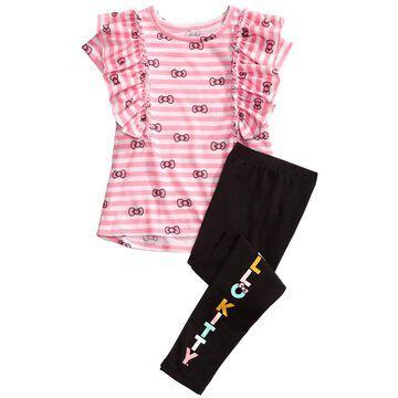 Toddler Girls 2-Pc. Ruffled Top & Leggings Set