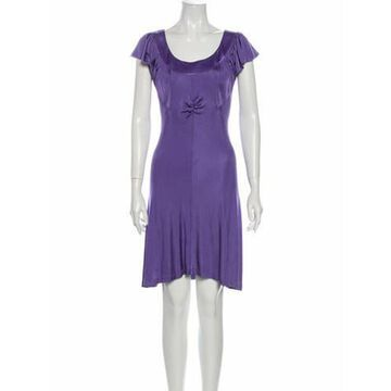 Scoop Neck Knee-Length Dress Purple