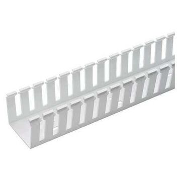 PANDUIT G3X5WH6 Wire Duct,Wide Slot,White,3.25 W x 5 D