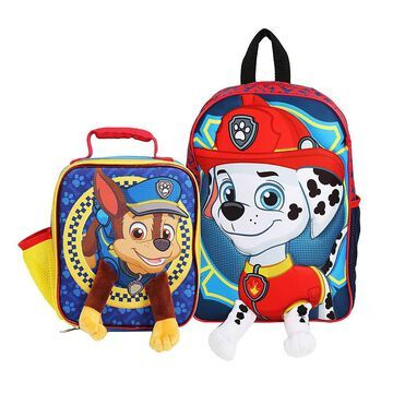Nickelodeon PAW Patrol 3-D Backpack And Lunch Box, Multicolor