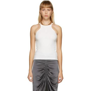 Dion Lee White Chain Necklace Tank Top
