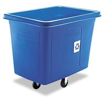 Rubbermaid Commercial Recycling Cube Truck Rectangular Polyethylene 500lb Cap