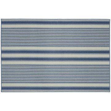 Garland Rug Cape Cod Striped Rug - 6' x 8', Blue, 6X8 Ft