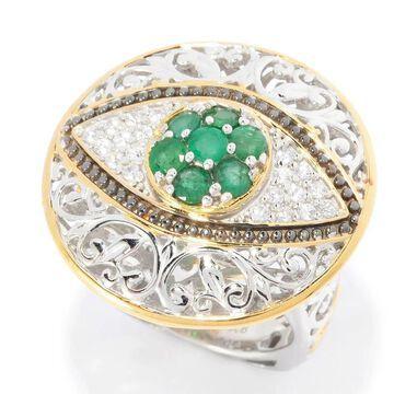 Michael Valitutti Emerald Eye Ring