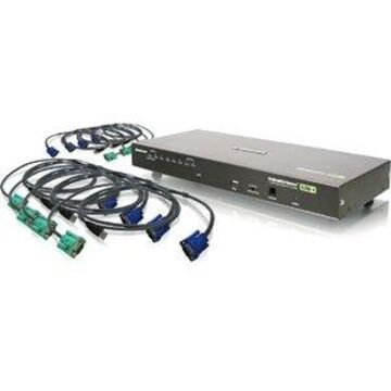 8PORT COMBO VGA KVMP SWITCH WITH USB CABLES