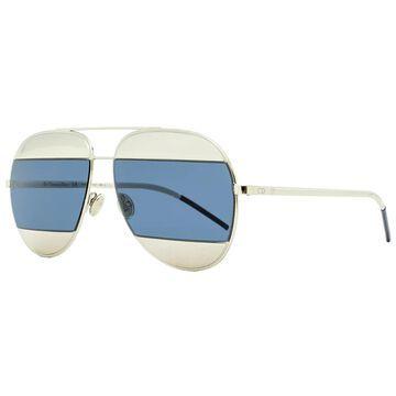 Dior Split 1 010KU Womens Palladium/Black 59 mm Sunglasses