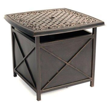 Hanover Outdoor Traditions Cast-Top Side Table/Umbrella Stand