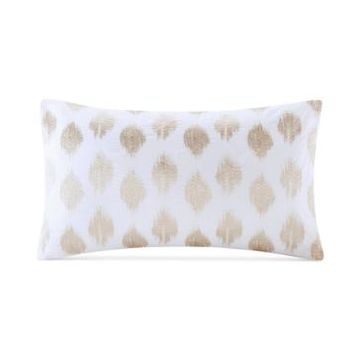 """Ink+Ivy Stella Embroidered-Dot 12"""" x 20"""" Decorative Pillow Bedding"""