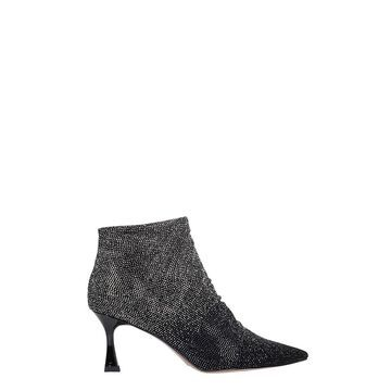Bibi Lou High Heels Ankle Boots In Black Synthetic Fibers