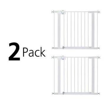 Safety 1st Easy Install Walk-Thru Gate - Value 2 Pack, White