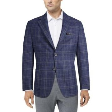 Tallia Men's Slim-Fit Navy Plaid Sport Coat