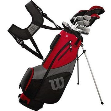 Golf Profile SGI Men's Complete Golf Set with Bag - Red