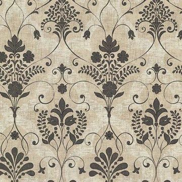 Beacon House Andalusia Black Damask Wallpaper