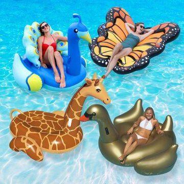 Swimline Vinyl Animal Kingdom Extra Large Pool Float, Multicolor