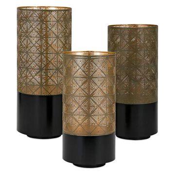 Imax Manhattan Pierced, Set of 3 Lantern