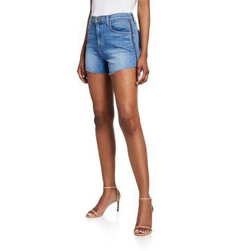 Ryland High-Rise Side-Zip Shorts