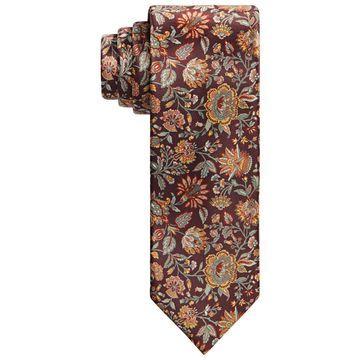 Men's Slim Floral Tie