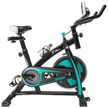 XtremepowerUS Stationary Exercise Bicycle Bike Cycling Cardio Health Workout Fitness, Aqua