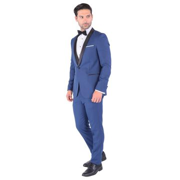 Ferrecci Palm Yale Blue Slim Fit 2pc Shawl Tuxedo