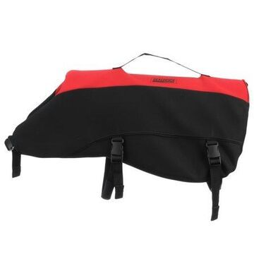 Seachoice 86394 Dog Life Vest - Adjustable Life Jacket for Dogs, with Grab Handle, Red and Black, Size XL, over 90 Pounds