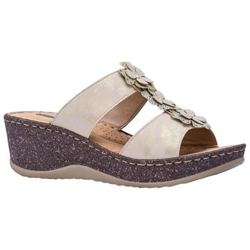 GC Shoes Women's Lecia Wedge Slide Sandal