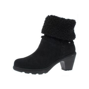 Anne Klein Womens Harvest Mid-Calf Boots Suede Fur Lined - Black Suede