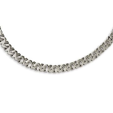Chisel Stainless Steel Polished Fancy Xs Open Link 24-inch Necklace (White - 24 Inch)