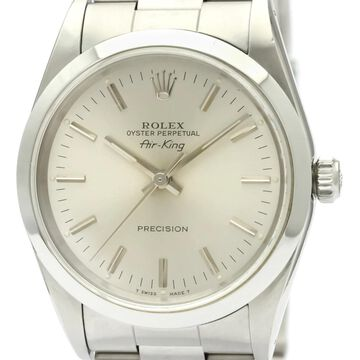 Rolex Air King Silver Steel Watches