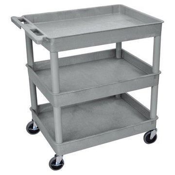 Luxor Large 3-Tub Shelves Cart
