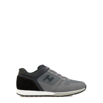 Hogan Leather And Fabric Sneaker