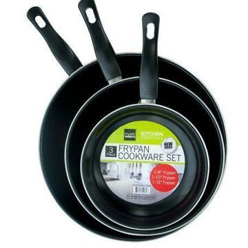 Bulk Buys OC644-1 Stainless Steel Non-Stick Frying Pan Set