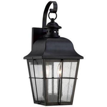 Quoizel Millhouse Medium Wall-Mount Outdoor Lantern in Mystic Black
