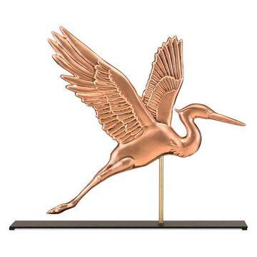 Blue Heron Copper Table Top Sculpture