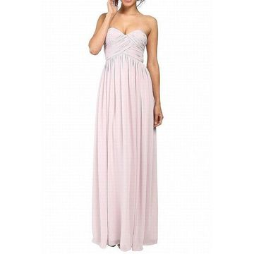 Donna Morgan Pale Pink Womens Size 8 Laura Chiffon Gown Dress