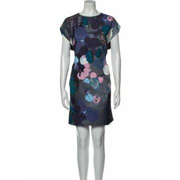 Msgm Printed Mini Dress Black Msgm Printed Mini Dress