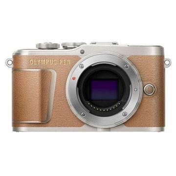 ''Olympus PEN E-PL9 16.1MP Mirrorless Camera Body, Honey Brown''
