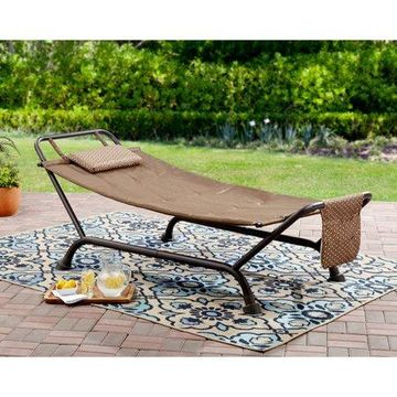 Mainstays Wentworth Deluxe Hammock with Stand - Brown
