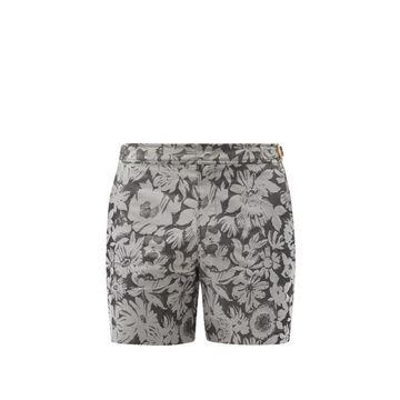 Orlebar Brown - Bulldog Byala-print Swim Shorts - Mens - Black Grey