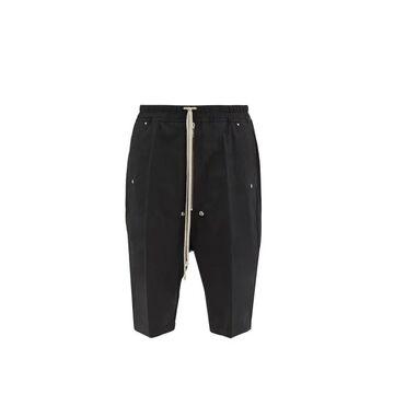 Rick Owens - Pressed-crease Crepe Basketball Shorts - Mens - Black