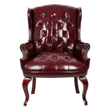 Boss Wgback Traditional Guest Chair, Red