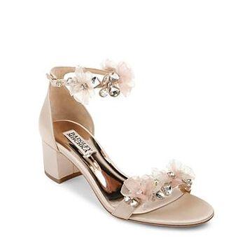 Badgley Mischka Women's Candy Embellished Block Heel Sandals