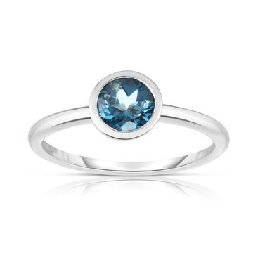 Noray Designs 14K White Gold Bezel Set Gemstone (3/4 Ct) Ring