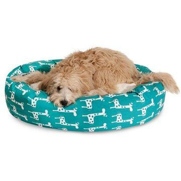 Majestic Pet Stretch Sherpa Bagel Dog Bed