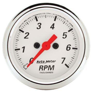 AutoMeter 1397 Arctic White Electric Tachometer