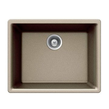 HOUZER Quartztone 23.625-in x 17.75-in Taupe Single-Basin Undermount Residential Kitchen Sink