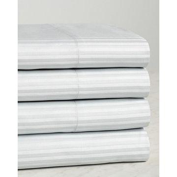 Westin 4Pc Cotton Platinum Striped Sheet Set