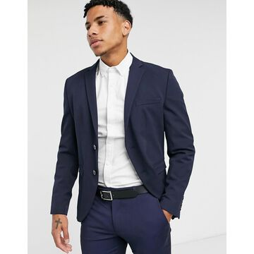 Selected Homme slim jersey suit jacket in navy
