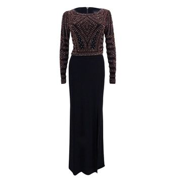 Xscape Women's 2-Pc. Embellished Gown (4, Black Combo)