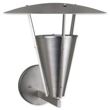 Filament Design 1-Light Modern Outdoor Wall Lantern in Brushed Nickel