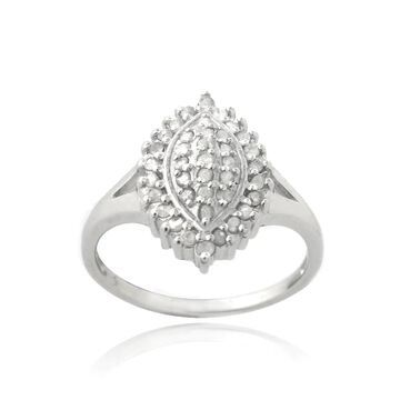 DB Designs Silevrtone 3/8ct TDW Diamond Marquise Shape Ring (9)